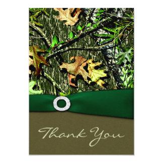 För Camo för jägare gröna jaga kort för tack 12,7 X 17,8 Cm Inbjudningskort