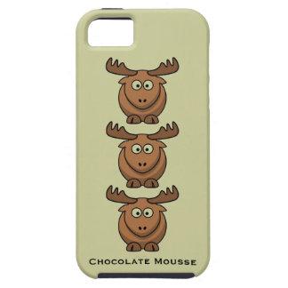 För Catroon för chokladMousse roligt djur för älg iPhone 5 Case-Mate Fodral