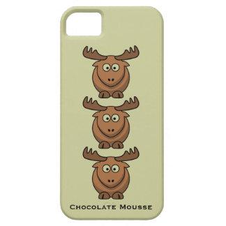 För Catroon för chokladMousse roligt djur för älg iPhone 5 Hud