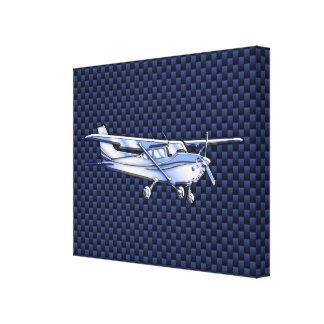 För Cessna för flygplanklassikerkrom fiber för kol Canvastryck