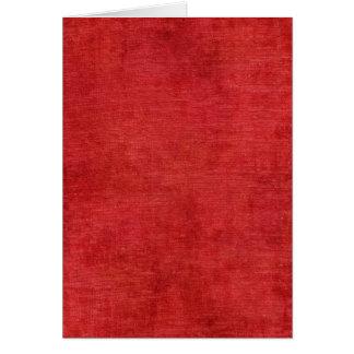 För Chenilletyg för jul röd struktur Hälsningskort