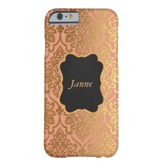 För chicVip för personlig persika guld- Samsung Barely There iPhone 6 Skal