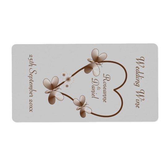 För chokladhjärta och mini- vinetikett för fraktsedel