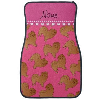 För chowchow för personlig kända rosa hundar bilmatta
