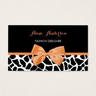 För Clothier för girafftryck flickaktigt pilbåge Visitkort