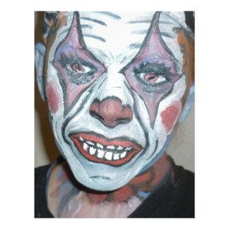För clownansikte för ledsna clowner läskig målning brevhuvud