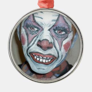 För clownansikte för ledsna clowner läskig målning julgransprydnad metall