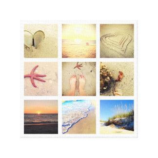 För Collageanpassningsbar för nio foto kanfas Canvastryck
