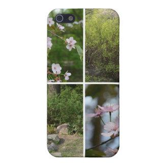 För CollageiPhone 5 för japan trädgårds- fodral iPhone 5 Hud