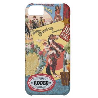 för collageiphone 5 för vintage westernt fodral iPhone 5C fodral