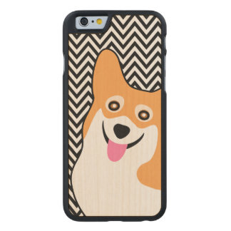 För Corgichic för Pembroke walesisk sparre Carved Lönn iPhone 6 Skal