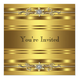 För Corprate för party för guldsvartTie händelse Fyrkantigt 13,3 Cm Inbjudningskort
