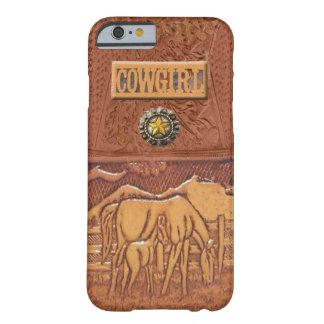 "För CowgirliPhone 6 ""för häst & för Colt"" westernt Barely There iPhone 6 Fodral"