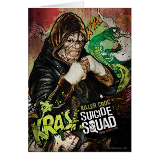 För Croc för mördare för självmordSquad | grafitti Hälsningskort