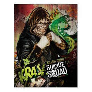 För Croc för mördare för självmordSquad | grafitti Vykort