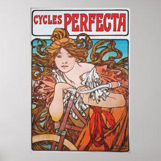 För cykelannons för art nouveau fransk affisch