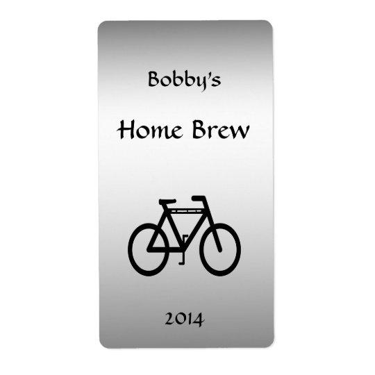 För cykelöl för silver metallisk etikett fraktsedel