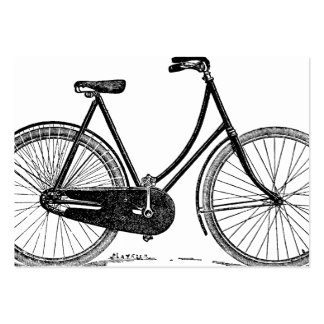 För cykelSilhouette för vintage antik illustration Set Av Breda Visitkort
