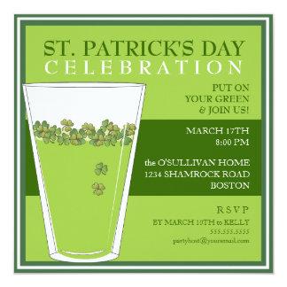 För dagfirande för St. Patricks inbjudan för halv