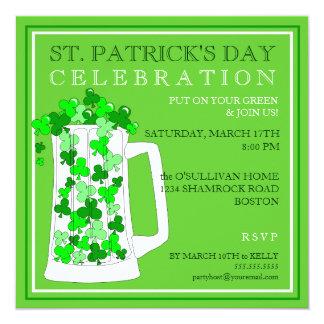 För dagfirande för St. Patricks inbjudan för party