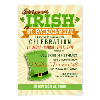 För dagfirande för St. Patricks inbjudningar för