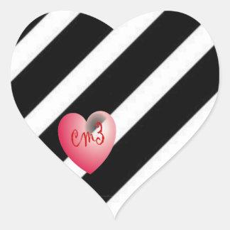 För daghjärta för kärlek Cm3 klistermärkear Hjärtformat Klistermärke