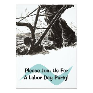 För dagparty för plog som arbets- inbjudningar