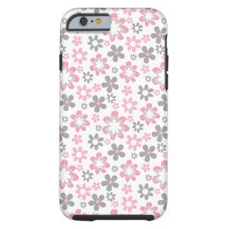 för daisyiphone 6 för rosor blommar det gråa tough iPhone 6 skal