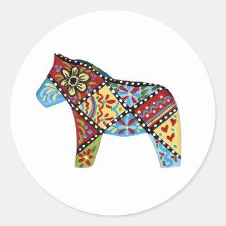 För Dala för Folk konst klistermärke häst