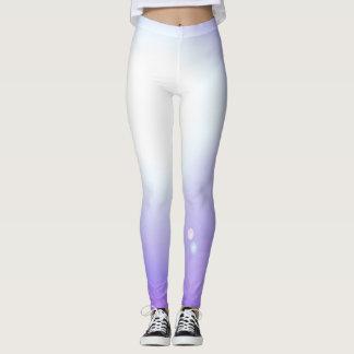 För damaskermode för dans purpurfärgade sportar leggings