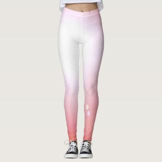 För damaskermode för dansare rosa sportar för leggings