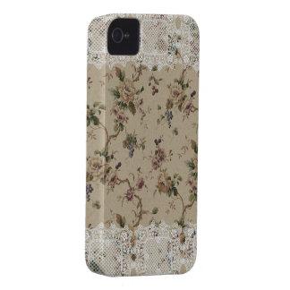 För damblackberry bold för vintage blom- Lacy fodr iPhone 4 Fodral
