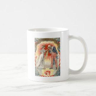 För damfrihet för Uncle Sam fyrverkerier för Kaffemugg