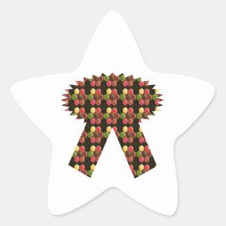 För Deco NVN284 för händelse för legitimation för Stjärnformat Klistermärke