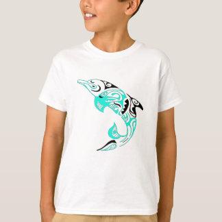 För delfintatuering för svart och för Mint stam- T-shirts
