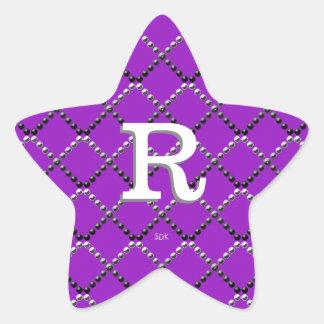 För den Criss för U-plockafärg metall korsningen Stjärnformat Klistermärke