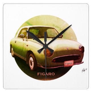 För den Figaro för vintage kvadrerar den gröna Fyrkantig Klocka