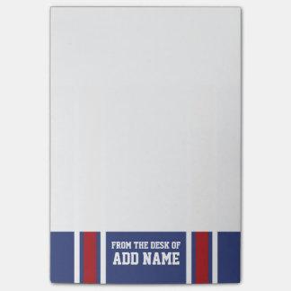 För den fotbollJersey för blått numrerar det röda Post-it Block