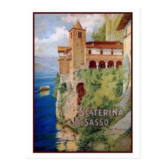För den Maggiore för vintage20-talsjön italienare Vykort