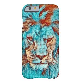För deppighetEra för vild lejont konstverk Barely There iPhone 6 Fodral