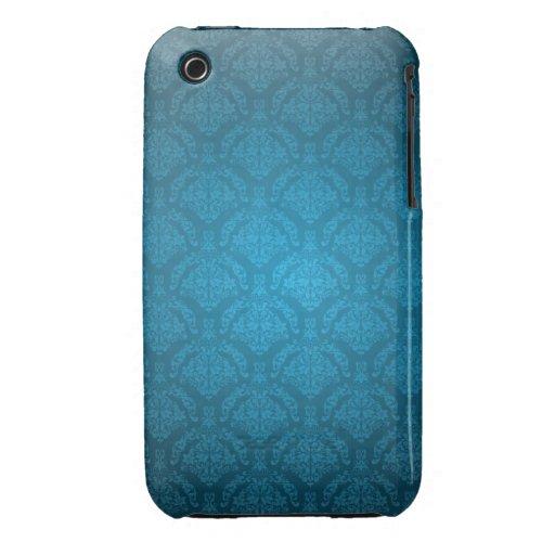 För designblackberry curve för blått damastast fod Case-Mate iPhone 3 case