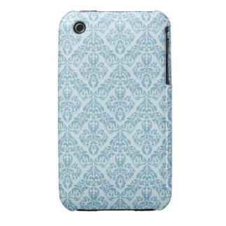 För designblackberry curve för blått damastast Case-Mate iPhone 3 case
