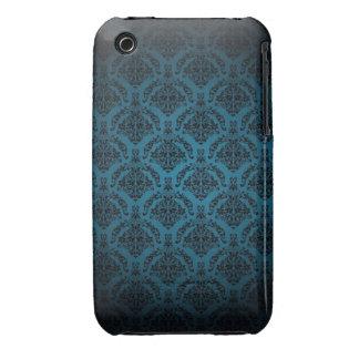 För designblackberry curve för blått damastast iPhone 3 fodraler