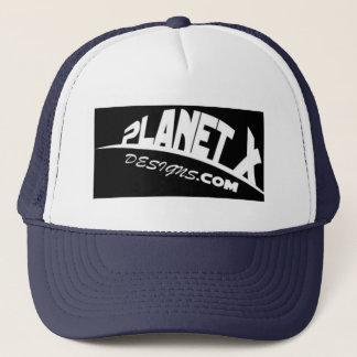 För designlogotyp för planet x hatt truckerkeps