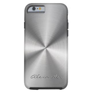 För designrostfritt stål för silver grå metallisk tough iPhone 6 skal