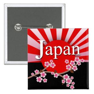 För det Sakura för den Japan resningsolen lättnad  Standard Kanpp Fyrkantig 5.1 Cm