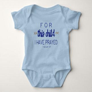 För detta barn har jag bett, blåttstilsorten tee shirt