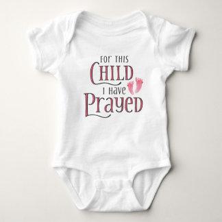 För detta barn har jag bett tee shirt