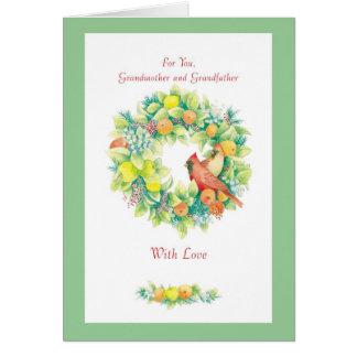 För dig, farmor och farfar hälsningskort