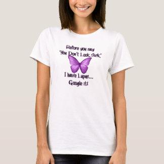 """För dig något att säga, """"som du inte ser sjuk """", tee shirts"""